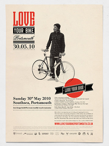 Love Your Bike Typography Poster Graphic Design