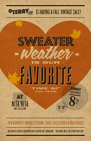 Sweater Weather Typography Poster
