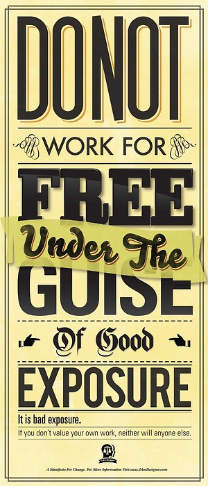 Do Not Work for Free Poster