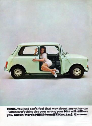 Mini. You cant feel that way about any other car. Poster Photography