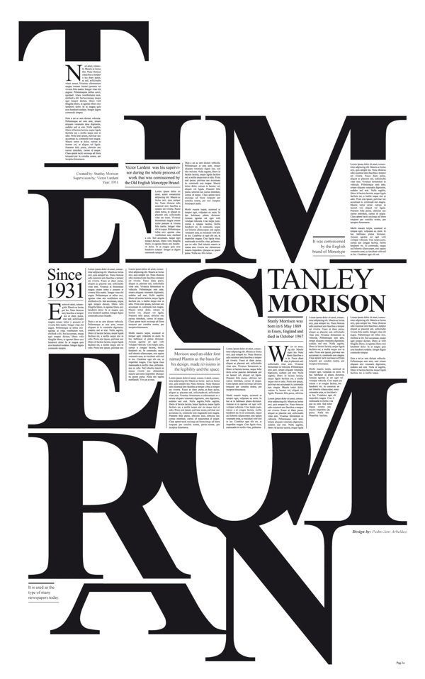 Times New Roman Typography Poster