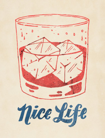 Nice Life Typography Illustration