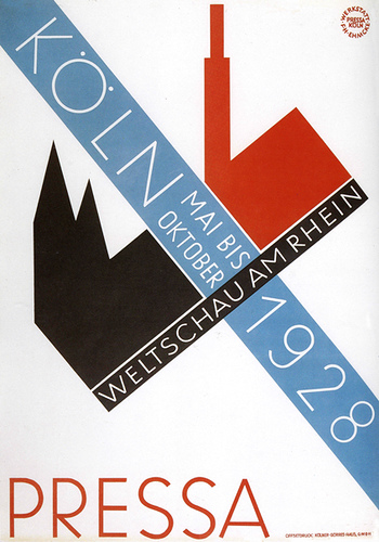 Koln 1928 Poster Graphic Design