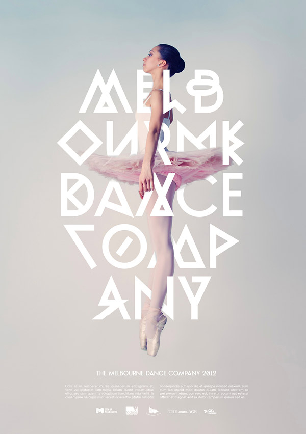 Melbourne Dance Company Poster Photography
