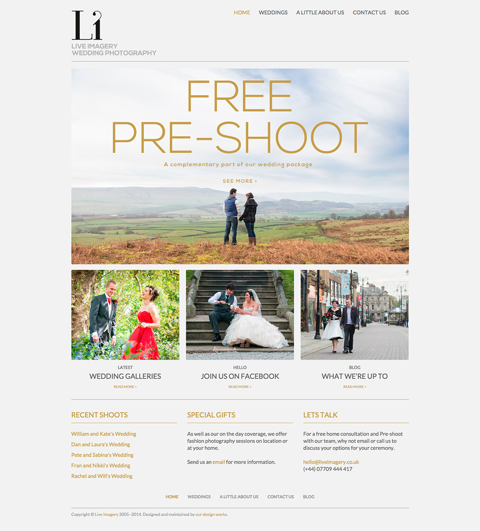 Live Imagery Wedding Website