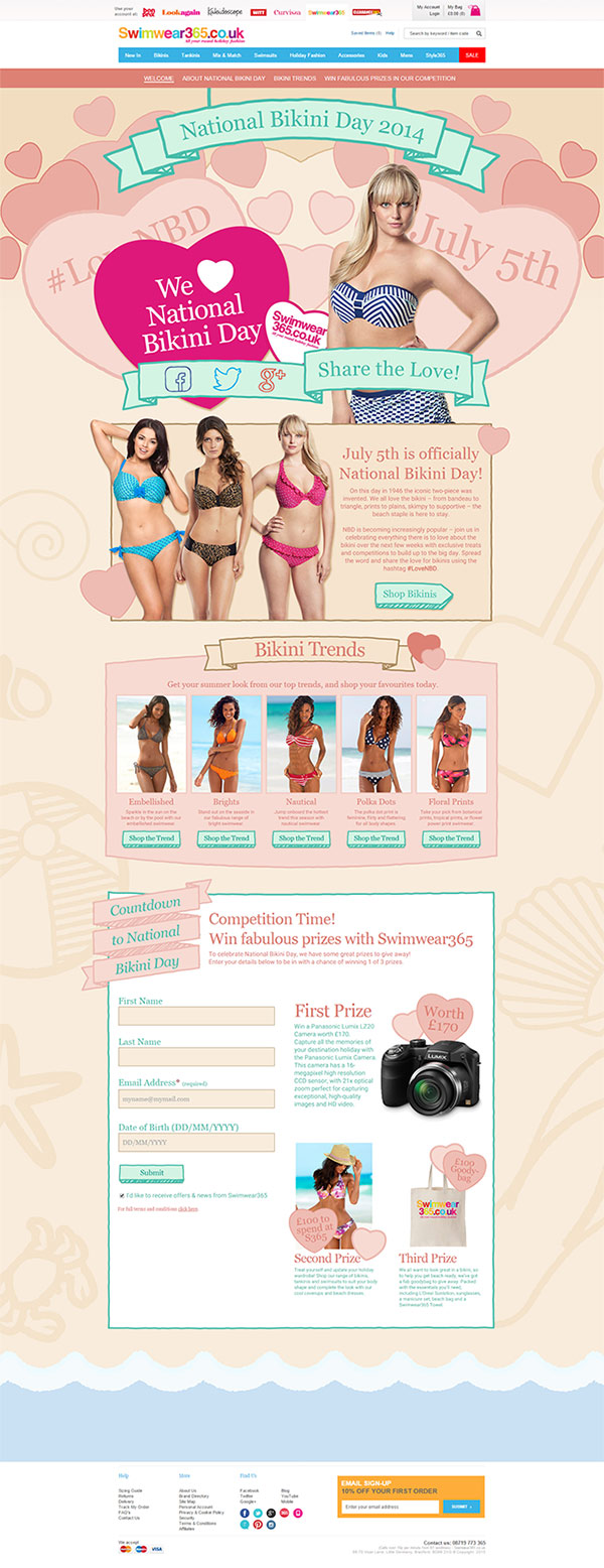 National Bikini Day 2014 Web Design Our Work
