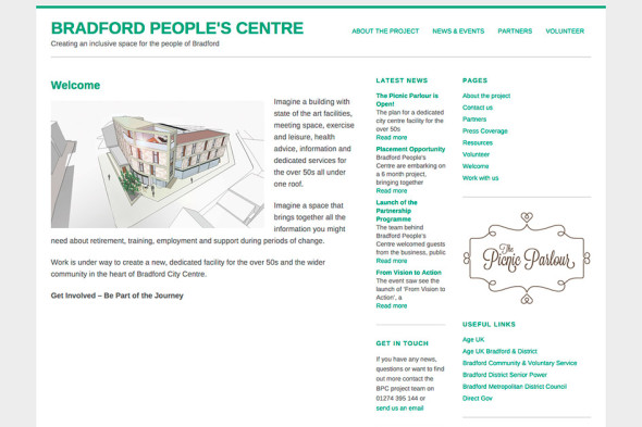 Bradford Peoples Centre Website